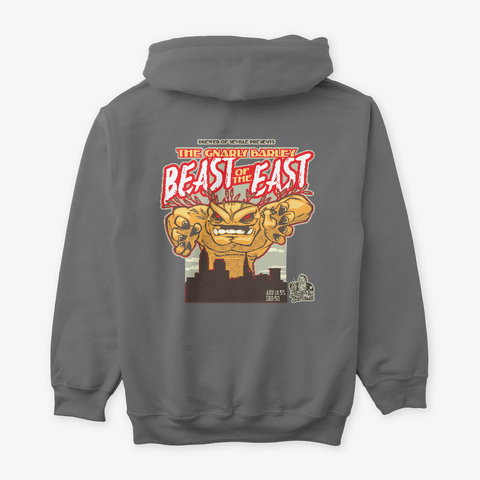 Gnarly Barley Beast Of The East Dark Heather T-Shirt Back
