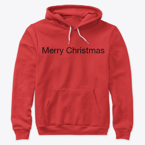 Merry Christmas Hoodie Red T-Shirt Front