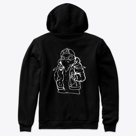 Wyze Tagger Classic   Hoodies/Sweaters Black T-Shirt Back