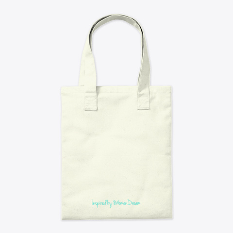 Dreaming About Tomorrow Tote Natural Tote Bag Back