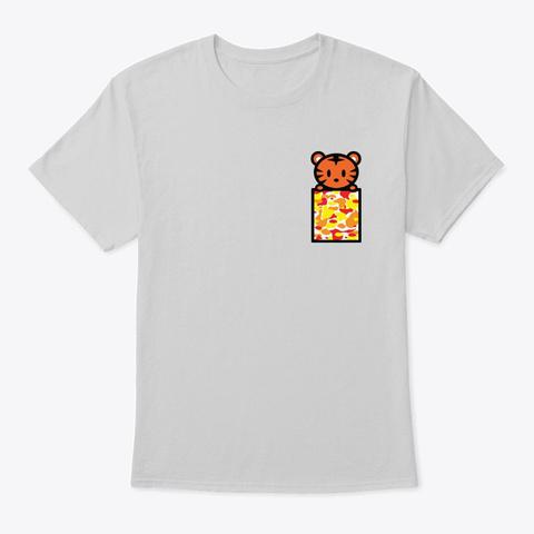 Tiger Pocket Light Steel T-Shirt Front