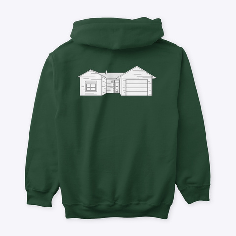 Classic Burbs Hoodie   All Colors Forest Green T-Shirt Back