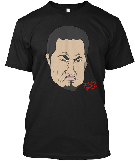 Rican Rice Black T-Shirt Front