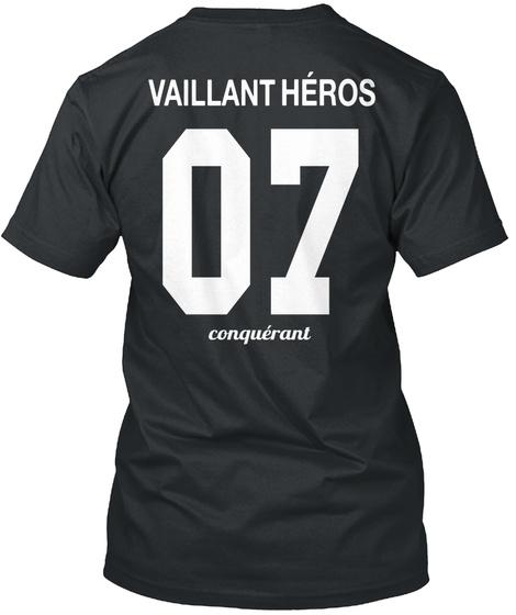 Vaillant Héros 07 Conquéranl Black T-Shirt Back