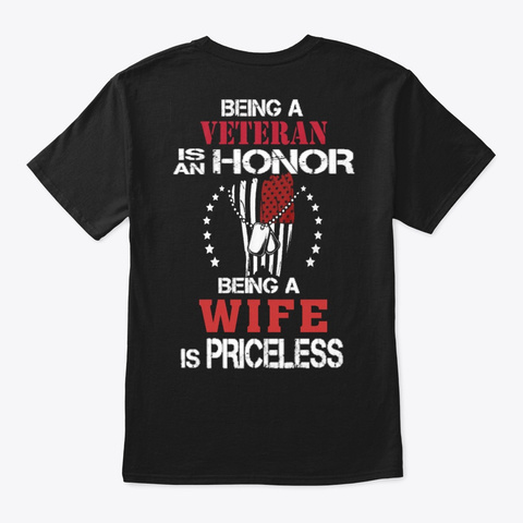 Veteran   Soldier   Military   Vet   840 Black T-Shirt Back