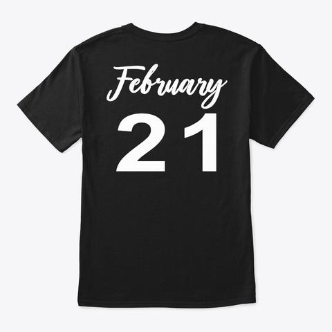 February 21   Pisces Black T-Shirt Back