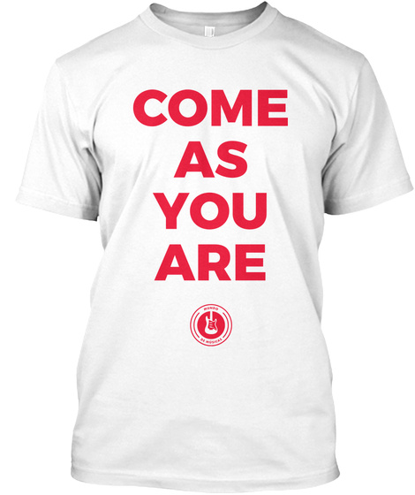 T Shirt Come As You Are (Branca) White T-Shirt Front