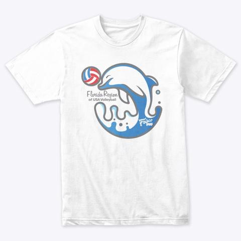 Florida Region: Flipper Heather White T-Shirt Front