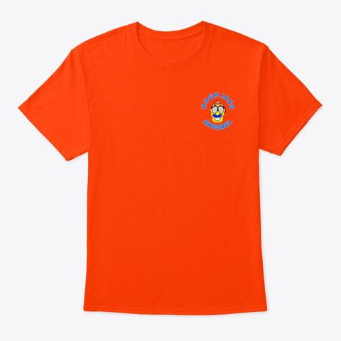 Hugh Jass Apparel Logo Shirt Orange T-Shirt Front