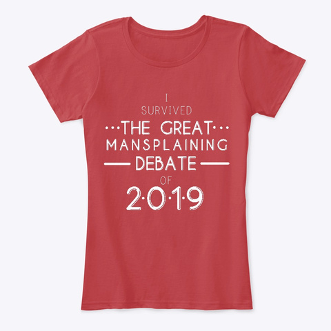 The Great Mansplaining Debate Tee Classic Red T-Shirt Front