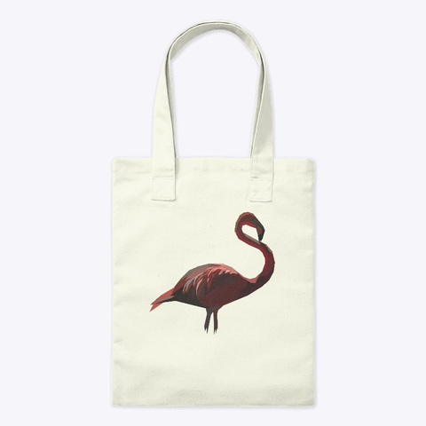Poly Art Flamingo Clasic Natural T-Shirt Front