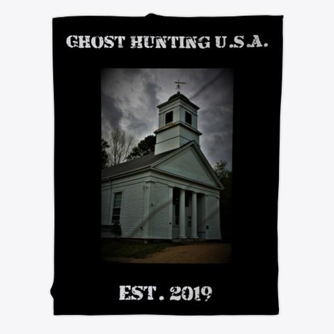 Ghost Hunting Usa: Church Merch Black T-Shirt Front