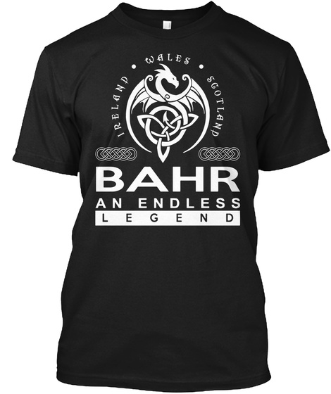 Bahr An Endless Legend Black T-Shirt Front