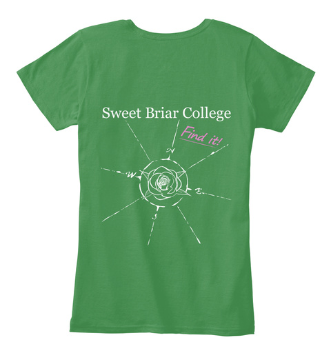 Sweet Briar College Find It! Kelly Green  T-Shirt Back