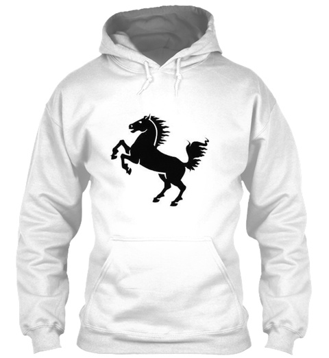 Horse Tee White T-Shirt Front