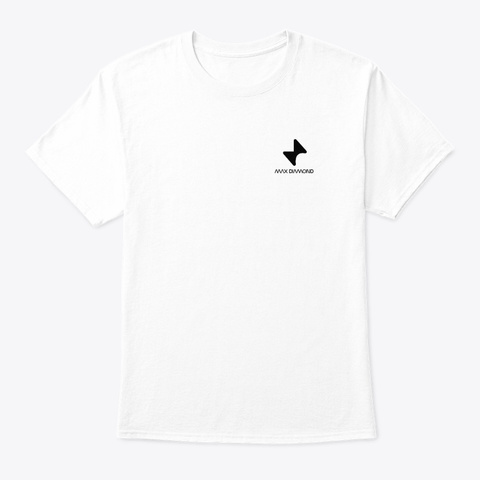 Max Diamond 1,000 Subscriber Shirt White T-Shirt Front
