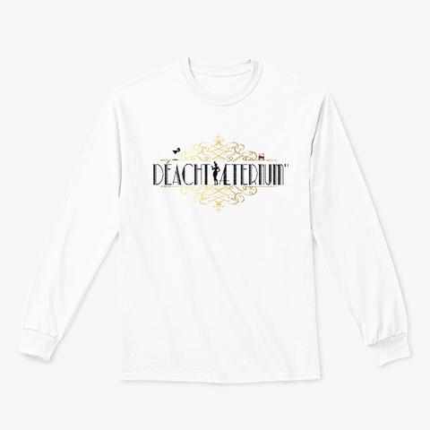 """Art Decorum"" Collection (Black Version) White T-Shirt Front"