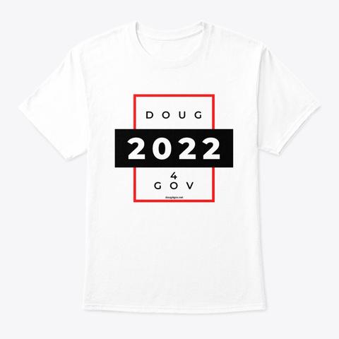 Doug 4 Gov   Red And Black White T-Shirt Front