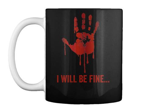 Halloween Scary Mug Black T-Shirt Front