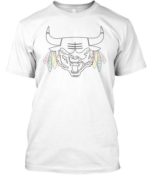 Chicago Blended Logo White T-Shirt Front
