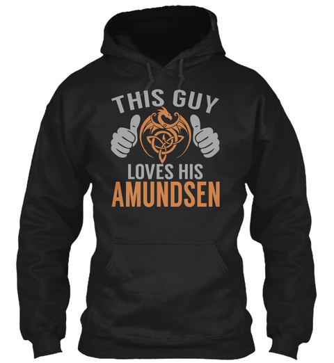 Amundsen   Guy Name Shirts Black T-Shirt Front