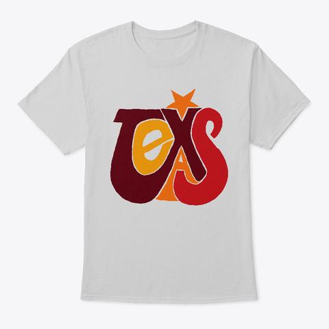 Texas Lone Star   Word Art Design Light Steel T-Shirt Front