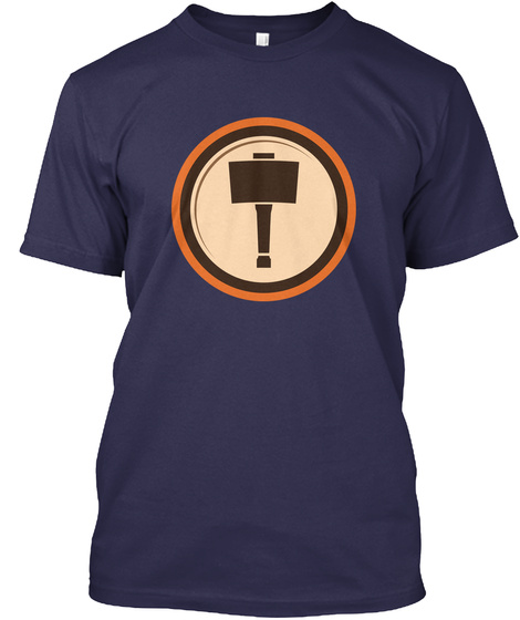 Woodshop Junkies Emblem Navy T-Shirt Front