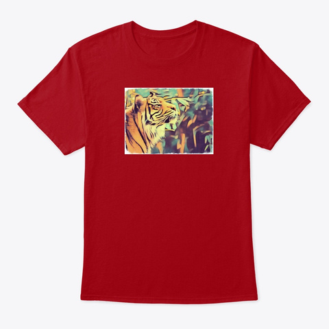 Tiger 1 Deep Red T-Shirt Front