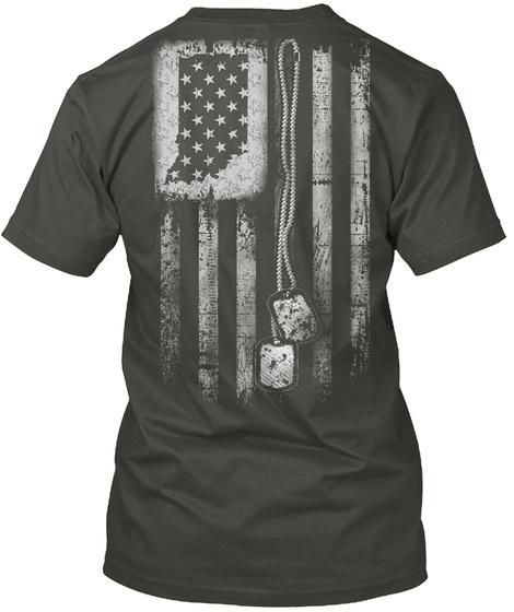 Indiana Dog Tag Flag Smoke Gray T-Shirt Back