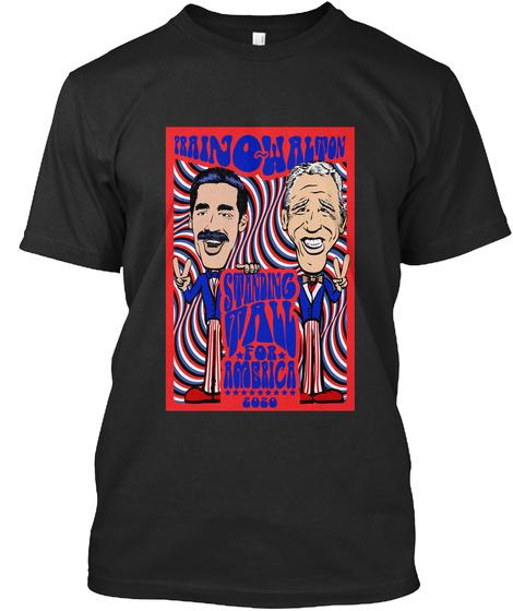 Prainowalton Standing Tall For America 2020 Black T-Shirt Front