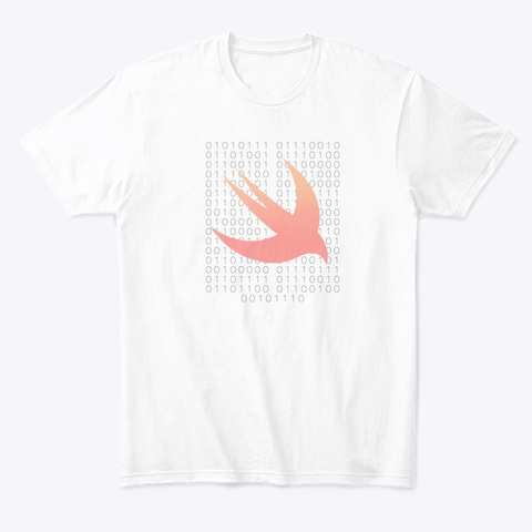 "Logo ""Aprendiendo Swift"" Blanco White T-Shirt Front"