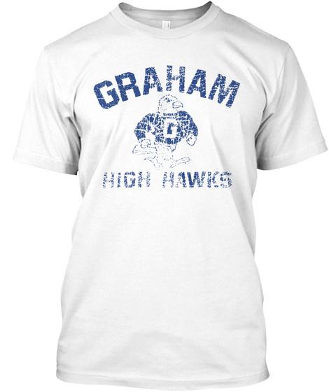 Graham High Hawks Mens White T-Shirt Front