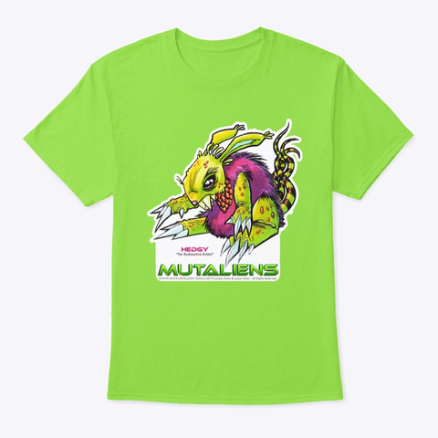 Mutaliens   Hedgy Lime T-Shirt Front
