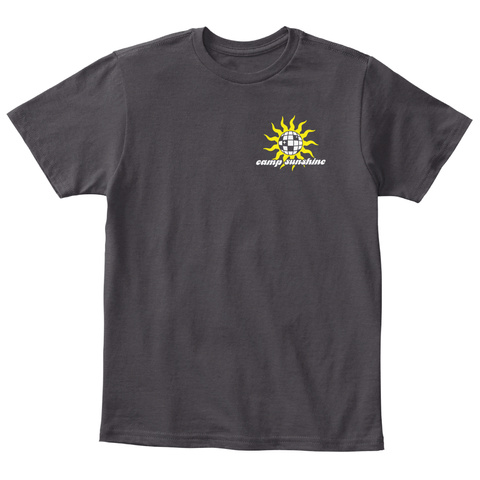 Camp Sunshine Heathered Charcoal  T-Shirt Front