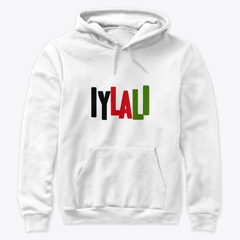 "Iylali Hoodie ""Lag"" White T-Shirt Front"