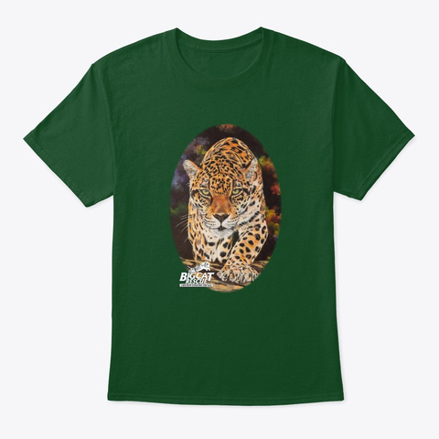 Stalking Manny Jaguar Deep Forest T-Shirt Front