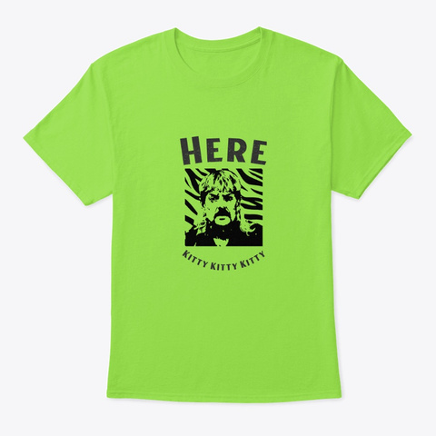 Tiger King Lime T-Shirt Front