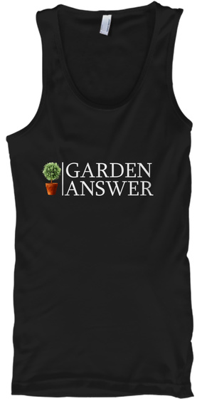 Garden Answer Black T-Shirt Front