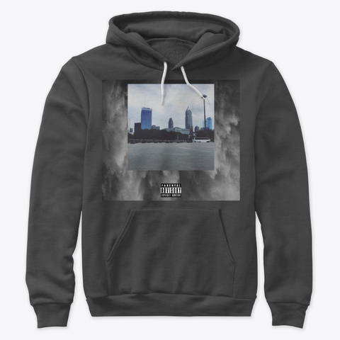 Grimistic Cleveland Rock And Roll Hoodie Dark Grey Heather T-Shirt Front