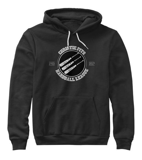 Christie Pit Hardball League 1933 2017 Black Sweatshirt Front