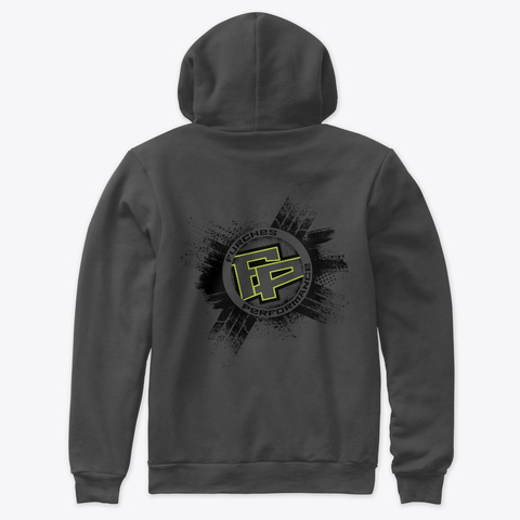 Circle Of Shred Unisex Hoodie Dark Grey Heather T-Shirt Back