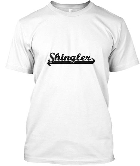 Shingler White T-Shirt Front