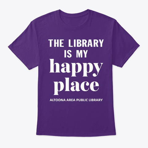 Show Library Love Through T Shirt Purple T-Shirt Front