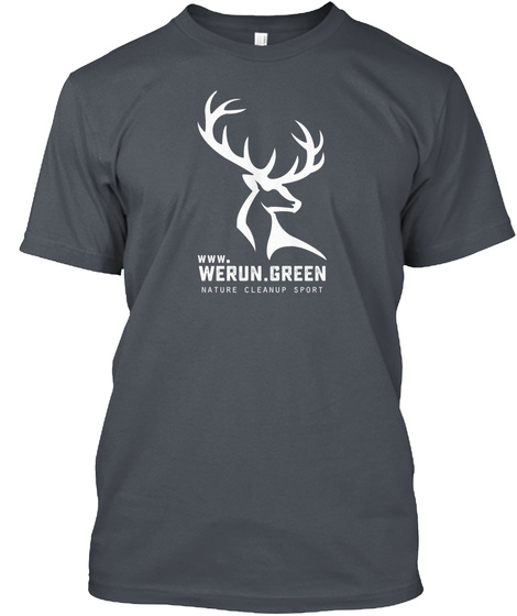 Www. Werun.Green Nature Cleanup Sport Anthracite T-Shirt Front