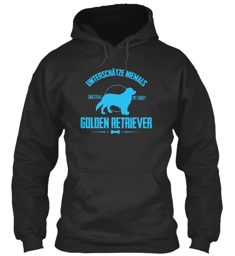 Hunde-Frau-Mit-Golden-Retriver-Bequemer-Kapuzenpullover