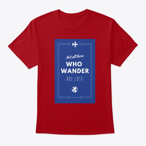Wander The World With One World Now! Deep Red T-Shirt Front