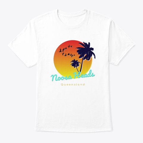 Noosa Heads  Queensland  White T-Shirt Front