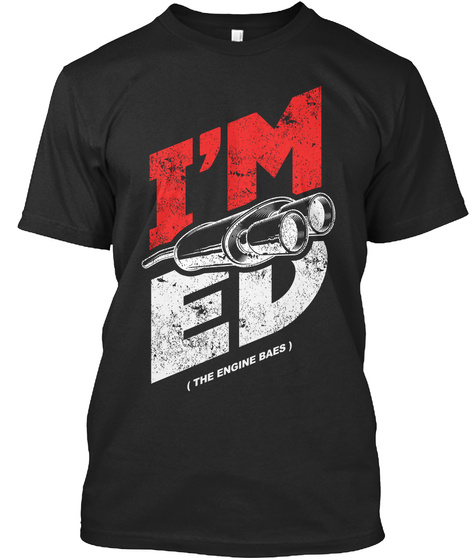 I'm Exhaus Ted Black T-Shirt Front