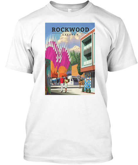 Rock Wood Gresham White T-Shirt Front