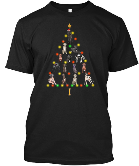 New Great Dane Christmas Gifts 2020 Black T-Shirt Front